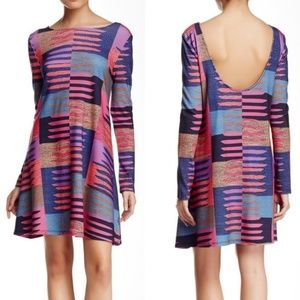 NWT Mara Hoffman Womens Pink and Blue Swing Dress